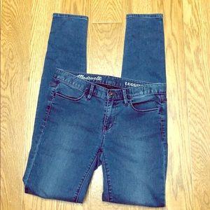 Women's Madewell jean leggings size 26 inseam 31